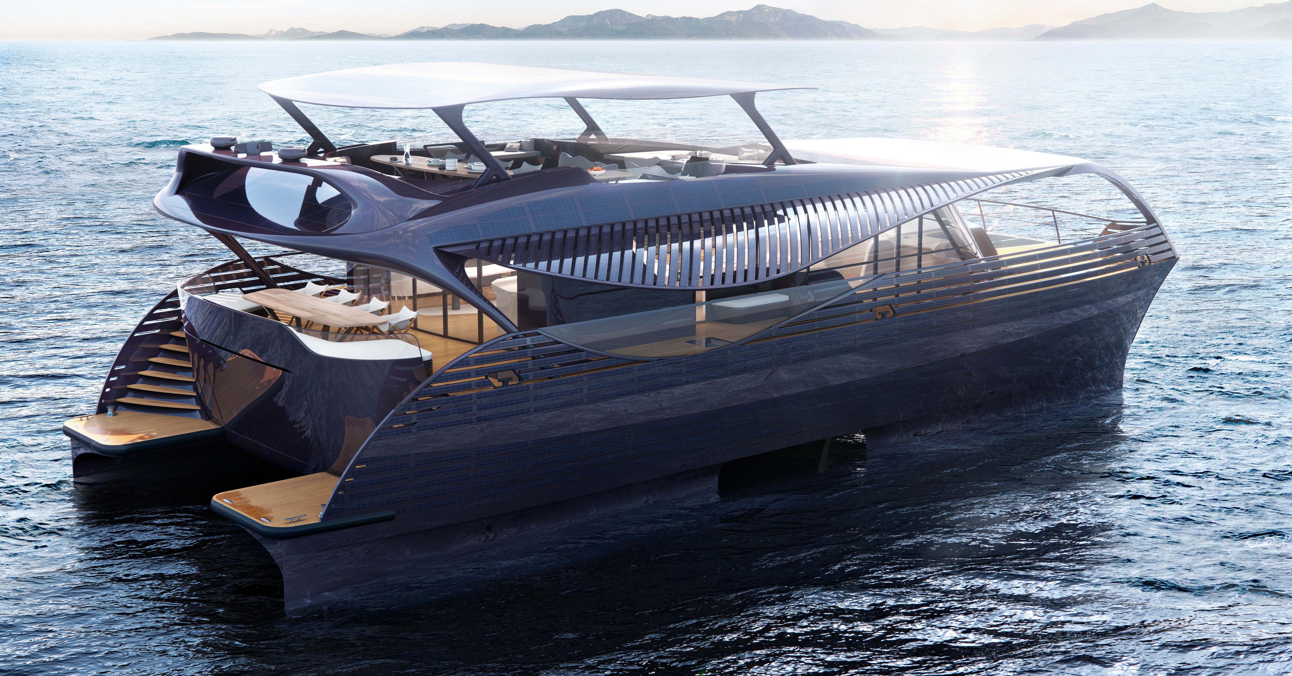 Luxury yacht, Yacht, Solar energy, Electric vehicle, Energy, A, Solar power, Ship, Watercraft, sailing, Yacht, boat, water transportation, watercraft, yacht, motorboat, boating, luxury yacht, vehicle, passenger ship, picnic boat
