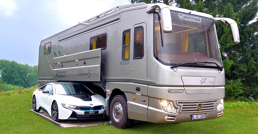 Car, Campervans, Caravan, Motorhome, House, , Garage, Automobile repair shop, , Trailer, rv with garage, motor vehicle, transport, recreational vehicle, vehicle, car, mode of transport, automotive design, automotive exterior, travel trailer, commercial vehicle