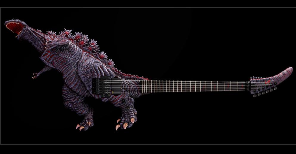 長青搖滾樂手所設計的哥吉拉吉他