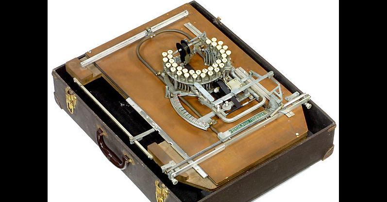 Typewriter, Computer keyboard, Music, Musical notation, 1950s, Sheet Music, , Hitek, Push-button, Typing, watch, Electronics, Fashion accessory, Electronic instrument, Watch
