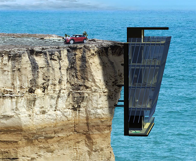 Cliff House, House, Fallingwater, Cliff, Villa, Australia, , Hotel, Room, Holiday Home, house on a cliff, Cliff, Sea, Water, Klippe, Coast, Coastal and oceanic landforms, Formation, Terrain, Rock, Ocean