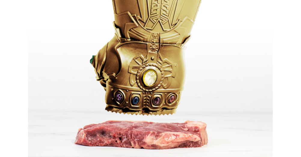 Meat Tenderisers, Steak, Meat, Cooking, Food, The Infinity Gauntlet, Kitchen, Meat thermometer, Sauce, Sous-vide, Meat tenderizer, Sculpture, Copper, Statue, Metal, Fictional character, Art, Brass, Carving,食品,虛構人物,金屬,藝術,黃銅,雕塑,雕像,烹飪,廚房,銅