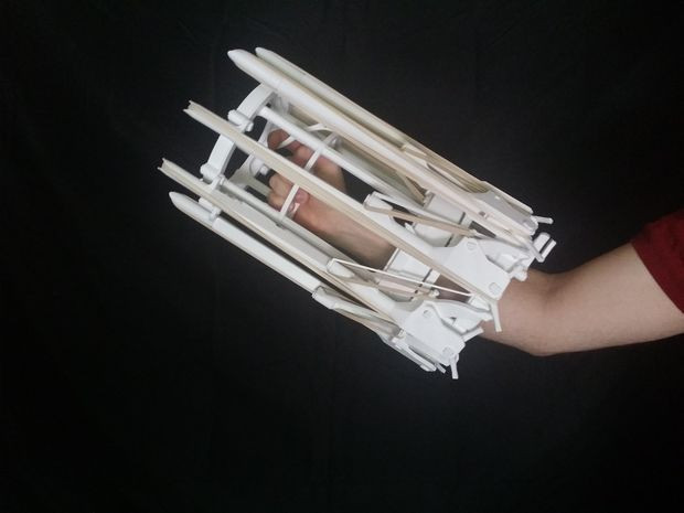 3D列印製作橡皮筋加特林機槍 - 癮科技