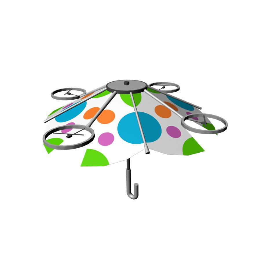 是像是無人機長飛膜的免持雨傘這篇文章的首圖