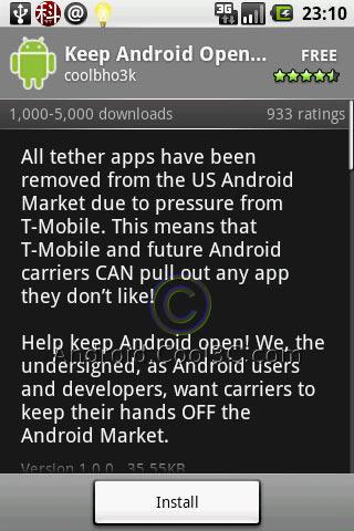 是Keep Android Open Petition! - 讓Android Market維持開放精神這篇文章的首圖