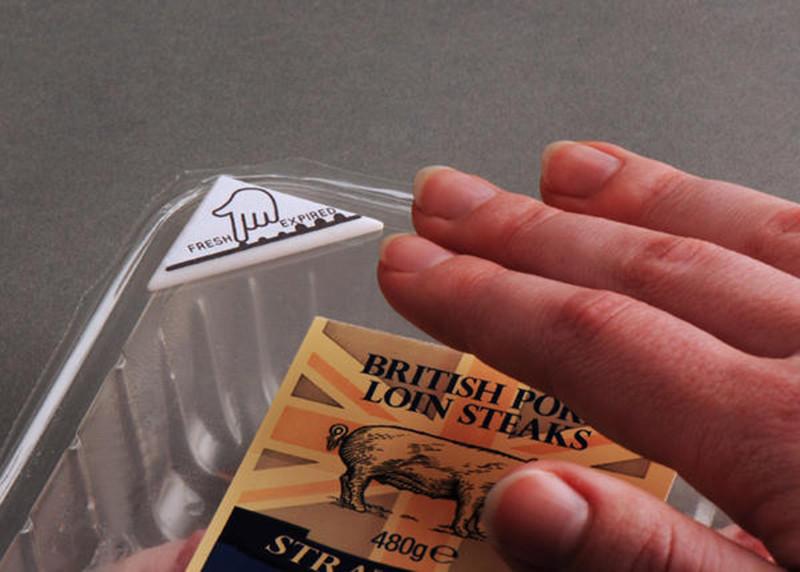 是特製生物反應標籤,避免吃到不新鮮的壞肉!這篇文章的首圖