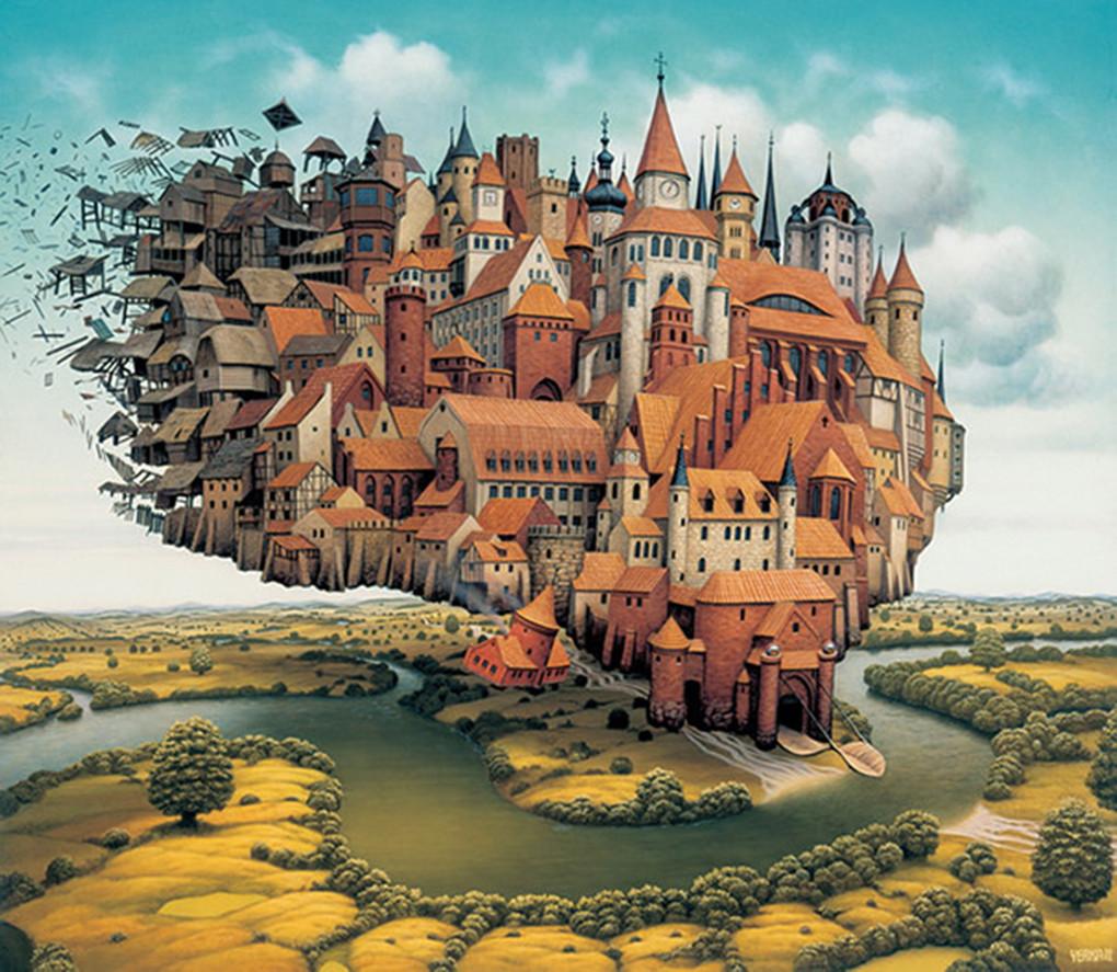 是當代超現實藝術家 Jacek Yerka,帶領你進入令人驚嘆的幻想與夢境世界!這篇文章的首圖
