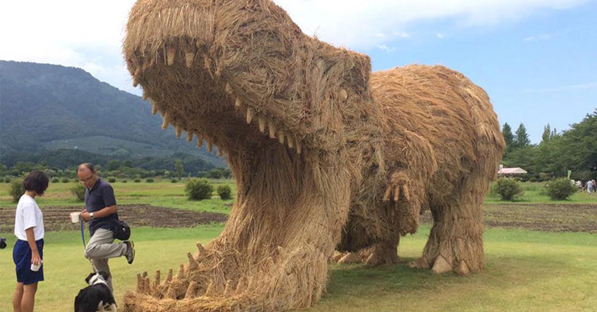 是日本稻草藝術節,讓無用的稻稈重生!這篇文章的首圖