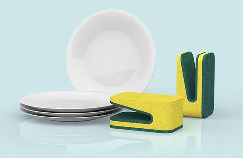 是鴨嘴型菜瓜布,碗盤邊緣清潔輕鬆克服!這篇文章的首圖