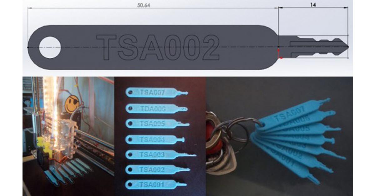 是TSA 鎖不再安全,專用鑰匙可 3D 列印機輕易解鎖這篇文章的首圖