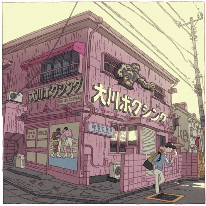 用 100 張插畫來展現日本東京的美