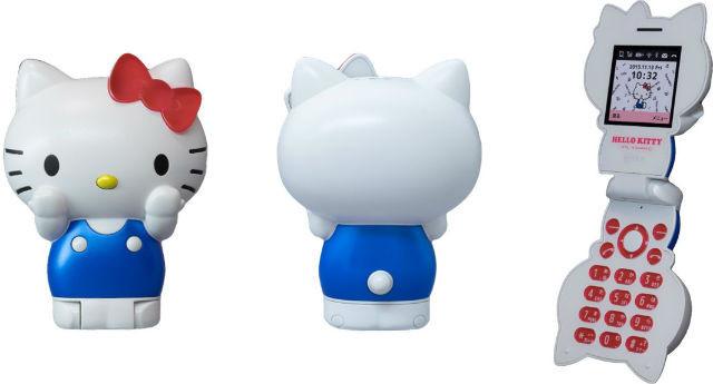 是造型非常驚人的 Hello Kitty 貓型手機,春季發售!這篇文章的首圖