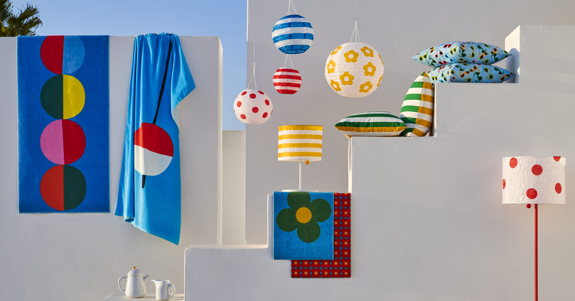 IKEA, , Summer, Furniture, Cloth Napkins, Basketball at the 2019 Special Olympics World Summer Games – Women's tournament, , IKEA Catalogue, Design, Sommar, sommar 2019, Room, Rectangle, Flag, Art