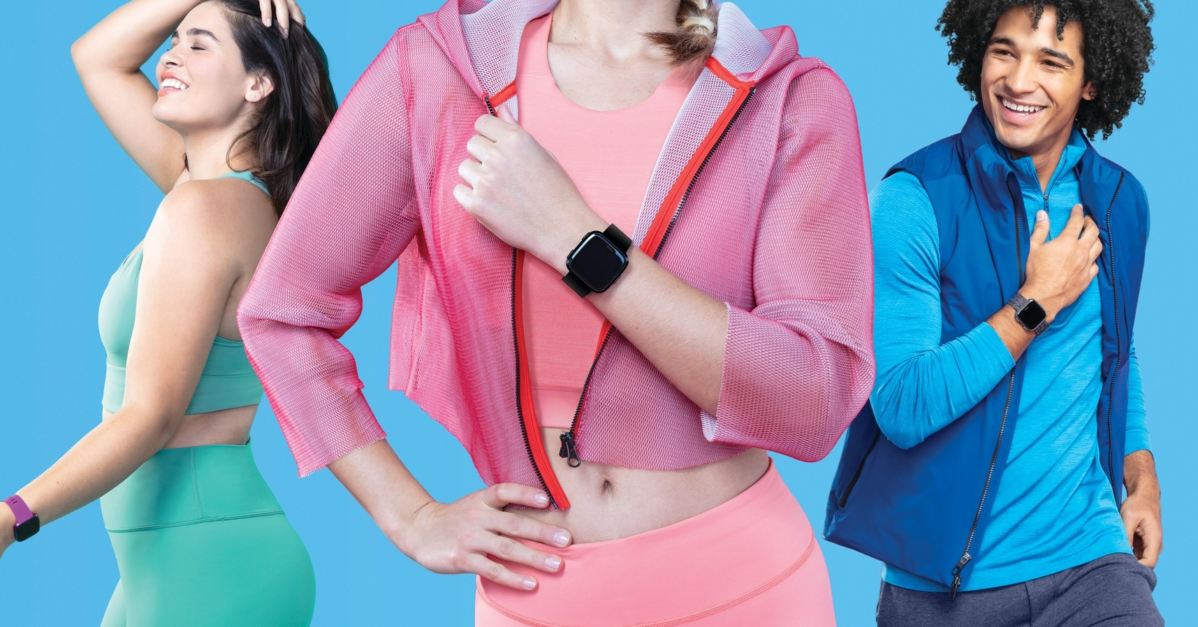 , Fitbit, Apple Watch, Smartwatch, Outerwear, Light, Shoulder, Apple, Textile, Pink M, clothing, Abdomen, Pink, Shoulder, Arm, Outerwear, Neck, Waist, Stomach, Trunk, Sleeve