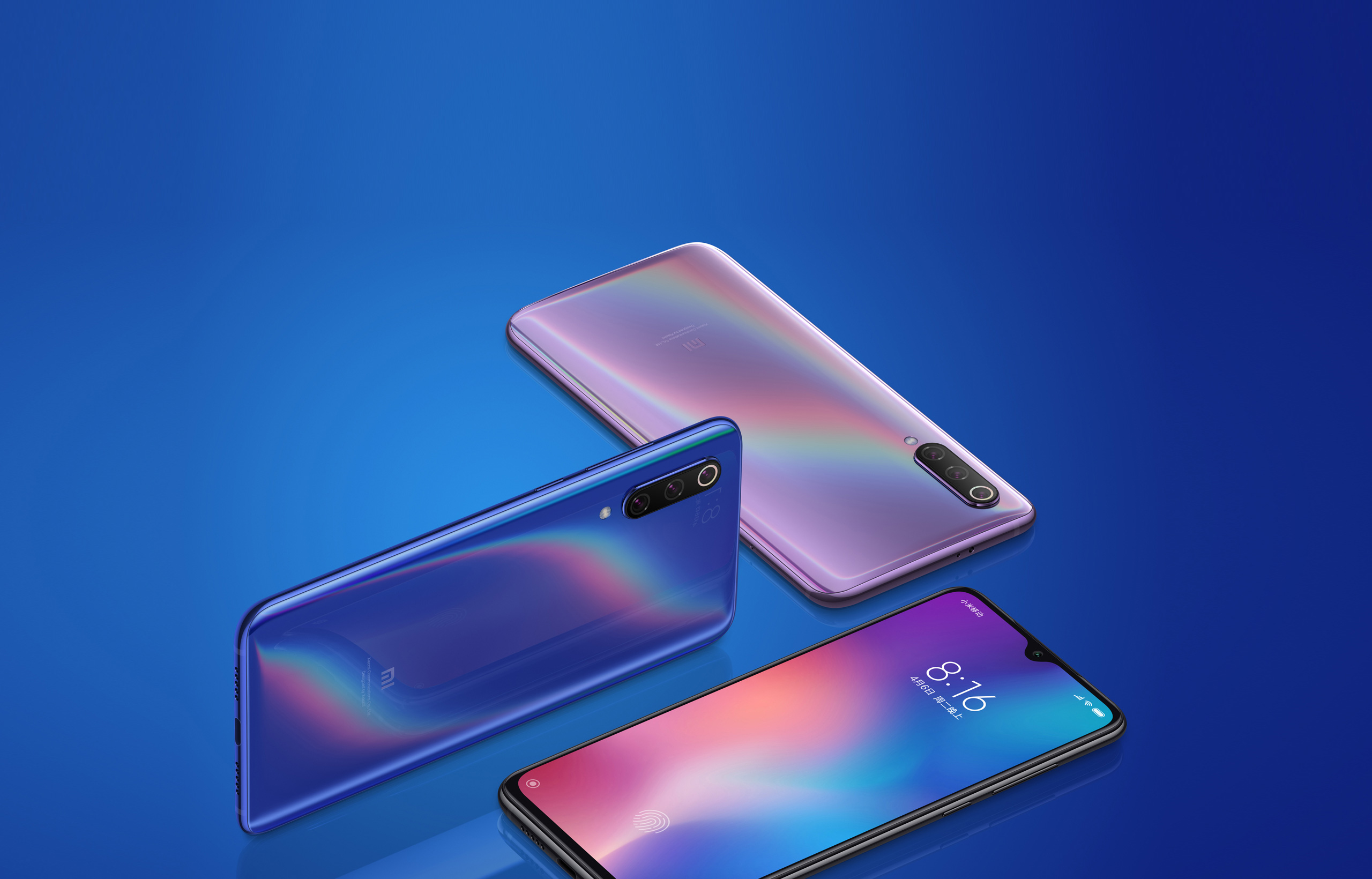 Xiaomi Mi 8, Xiaomi Mi MIX 3, Xiaomi, , Xiaomi Mi 9, Xiaomi Mi 1, Michigan, 小米9 SE, Qualcomm Snapdragon, Smartphone, mi 9, Blue, Product, Purple, Gadget, Mobile phone accessories, Technology, Electronic device, Mobile phone, Communication Device, Material property