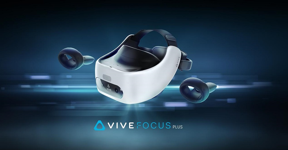 Virtual reality headset, Virtual reality, HTC Vive Focus, Six degrees of freedom, , HTC, Game Controllers, Head-mounted display, Oculus VR, Motion controller, vive focus plus, Automotive design, Space, Small appliance, Screenshot, Still life photography