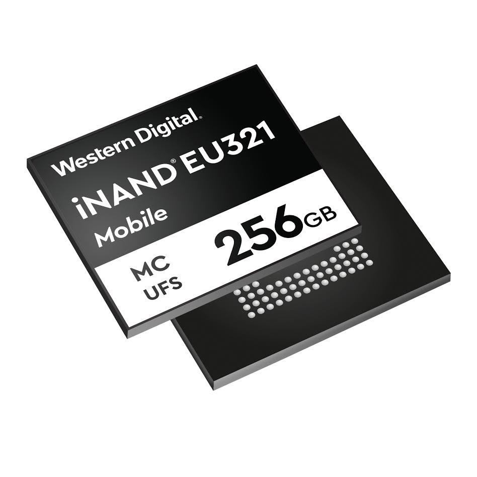 鎖定高階智慧手機儲存需求, WD 推出 96 層 3D NAND UFS 2.1 嵌入式快閃記憶體 iNAND MC EU321