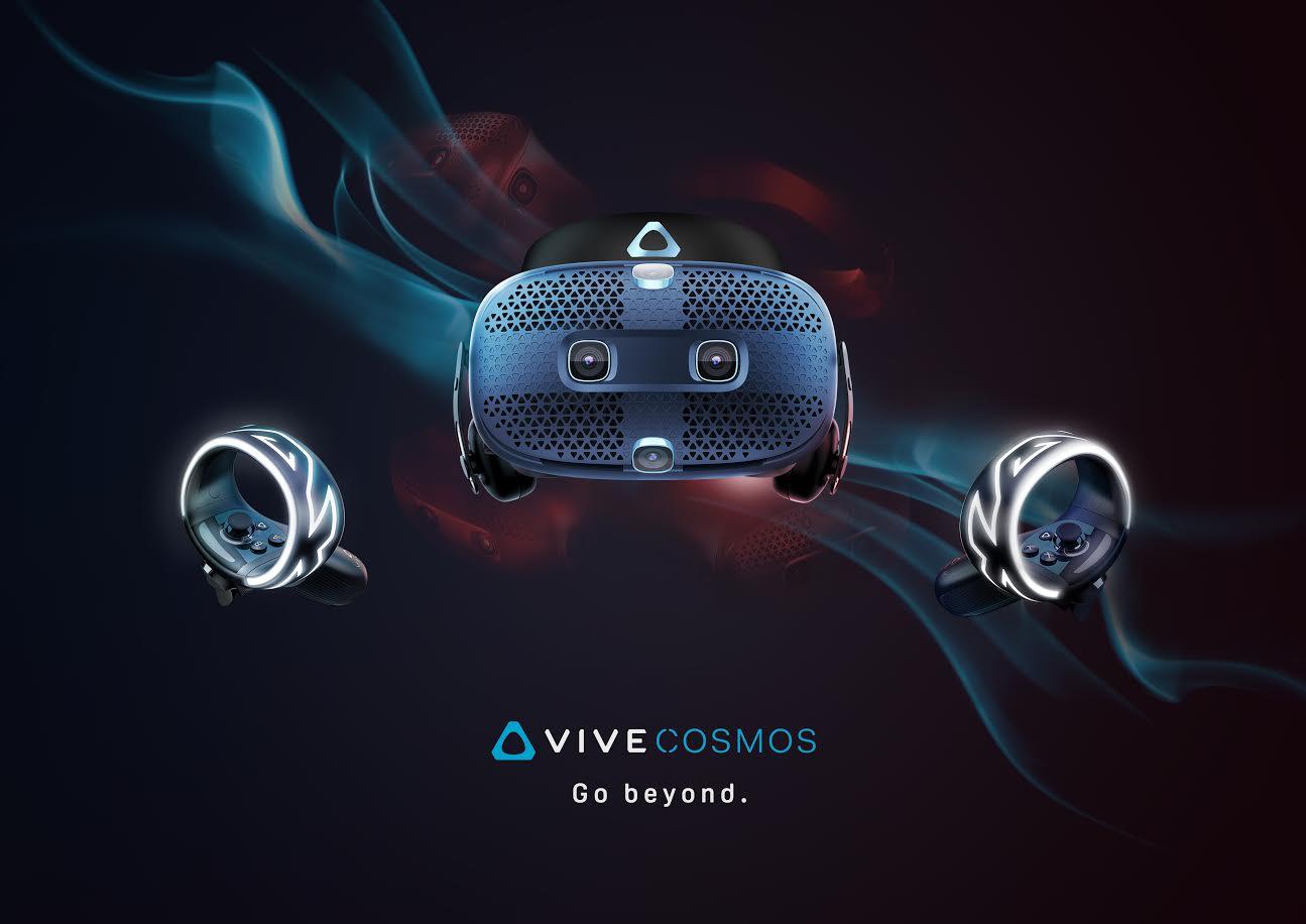 HTC新一代VR頭戴顯示器VIVE Cosmos將開放預購,規格升級、具免定位器、模組化面板設計等