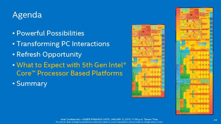 是CES 2015 : Intel 第五代 Core 產品線一覽,將先推出 14 款行動平台產品這篇文章的首圖