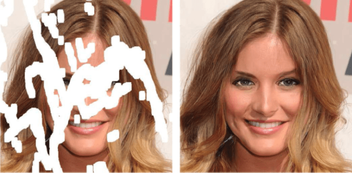 Artificial intelligence, Deep learning, A.I. Artificial Intelligence, Technology, Intelligence, Inpainting, Nvidia, , Machine learning, Research, Artificial intelligence, face, hair, eyebrow, nose, human hair color, chin, blond, hairstyle, head, cheek