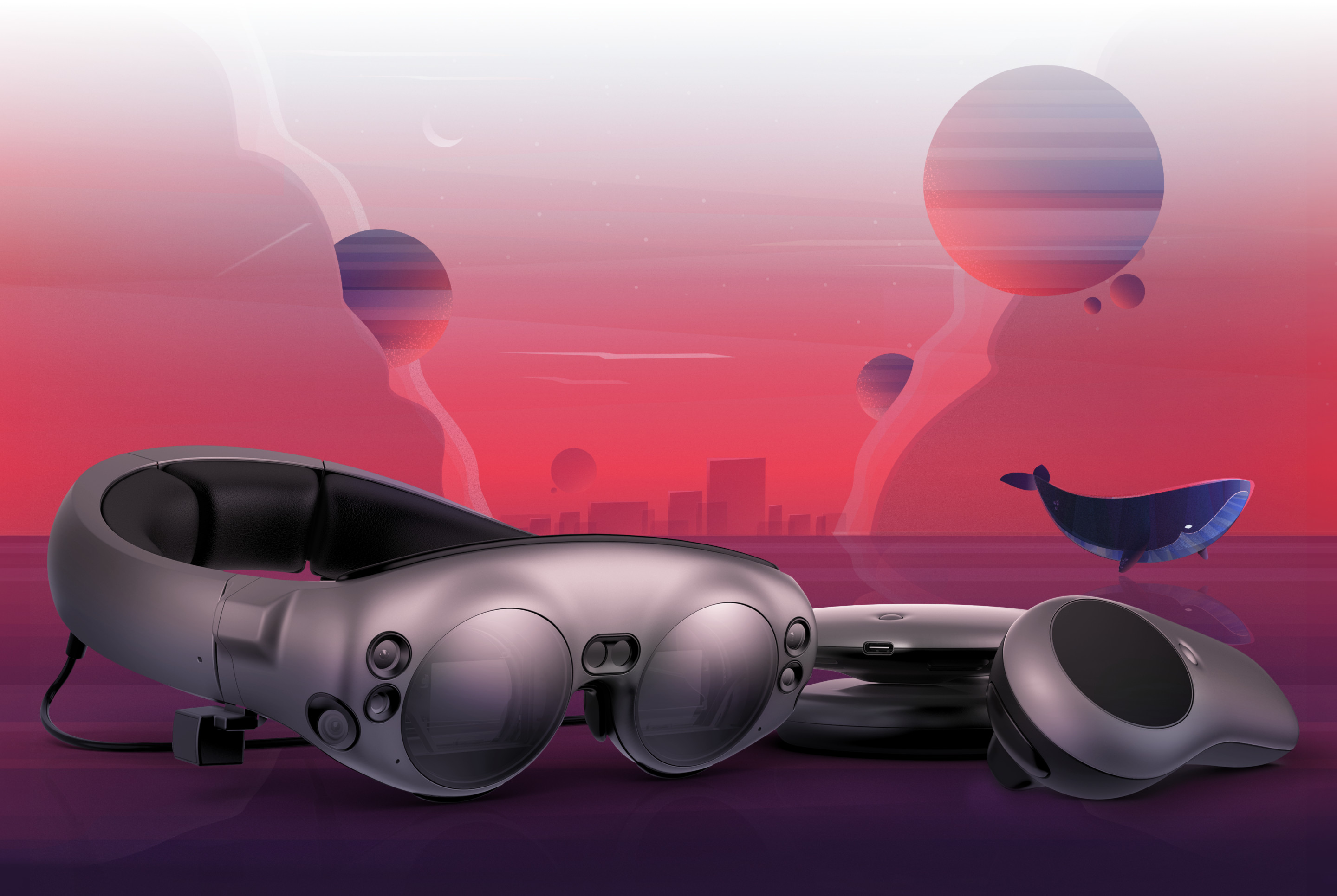 Magic Leap, United States, , Reality, Car, Mixed reality, , Augmented reality, Business, Sales, car, red, car, sky, automotive design, mode of transport, purple, air travel, vehicle, computer wallpaper, technology