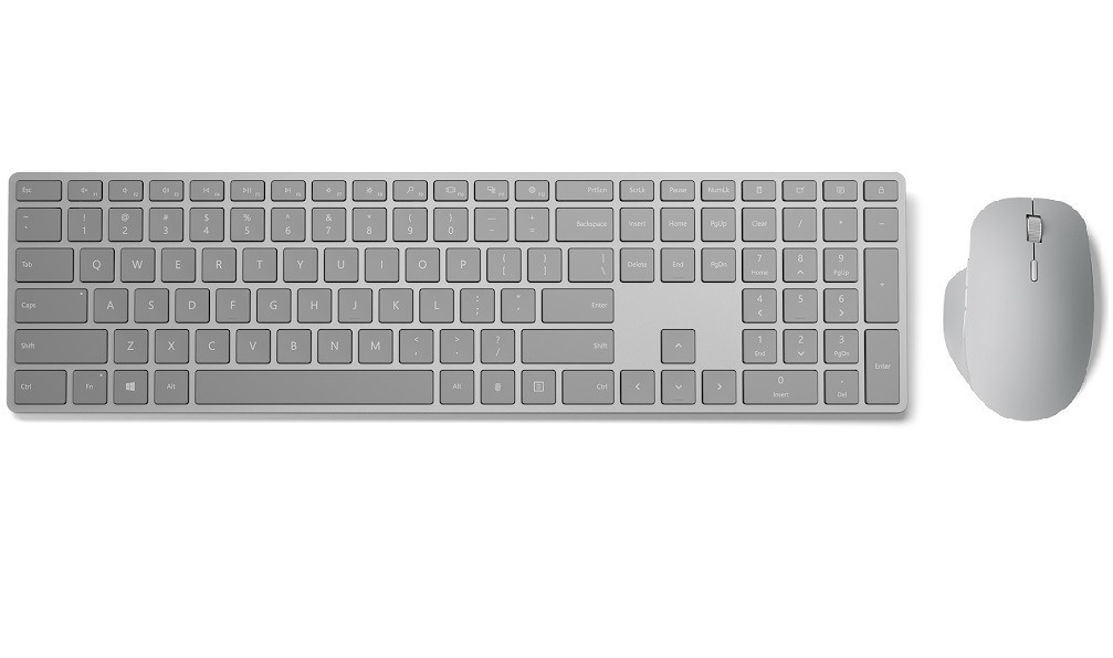 主攻辦公室族群需求,微軟 Surface 精準滑鼠、指紋識別時尚鍵盤在台推出