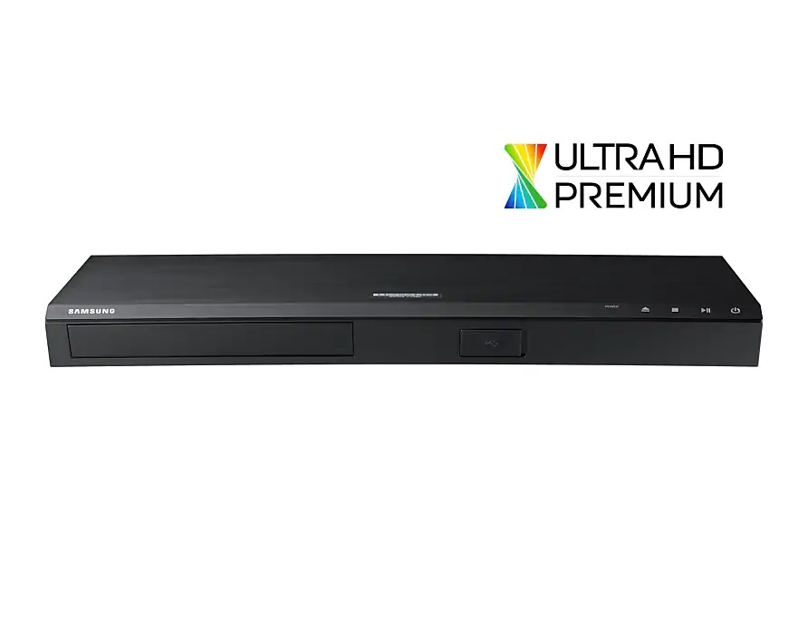 HDMI, Blu-ray disc, Blu-ray Player, Output device, Electronics, Multimedia, Product design, 4K resolution, Design, Samsung UBD-M8500, Blu-ray Player, Electronics, Product, Electronic device, Technology, Multimedia, Gadget, Television accessory, Output device, Laptop accessory