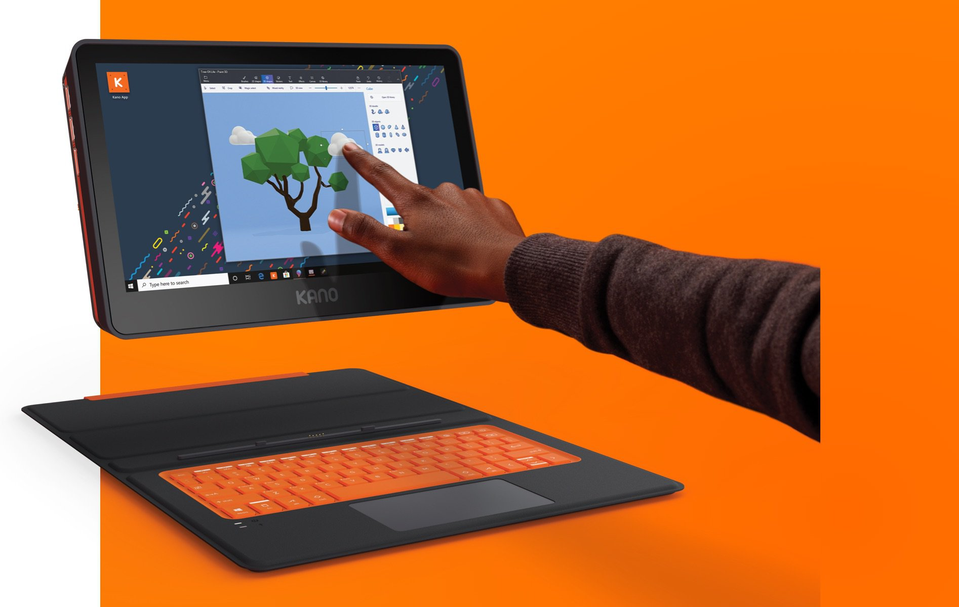 Laptop, , Personal computer, , , Kano, Computer, Game, Video Games, Display device, orange, Electronic device, Technology, Personal computer, Gadget, Computer, Touchpad, Input device, Output device, Multimedia, Laptop,多媒體,小工具,電子設備,技術,計算機,遊戲,視頻遊戲,顯示設備,個人計算機,筆記本電腦,輸入設備,觸摸板,橙色,輸出設備,卡諾