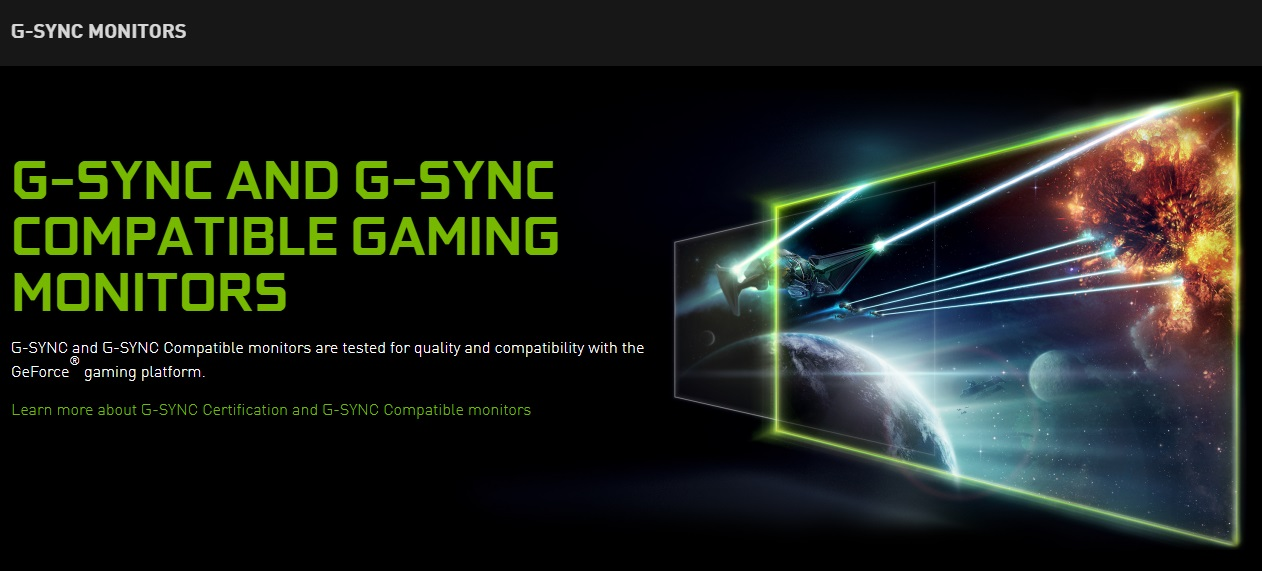 Nvidia G-Sync, FreeSync, Computer Monitors, Video Electronics Standards Association, Acer Predator X27, Nvidia, , GeForce, Variable refresh rate, Refresh rate, g sync compatible, Green, Light, Text, Graphic design, Font, Line, Technology, Visual effect lighting, Lens flare, Laser