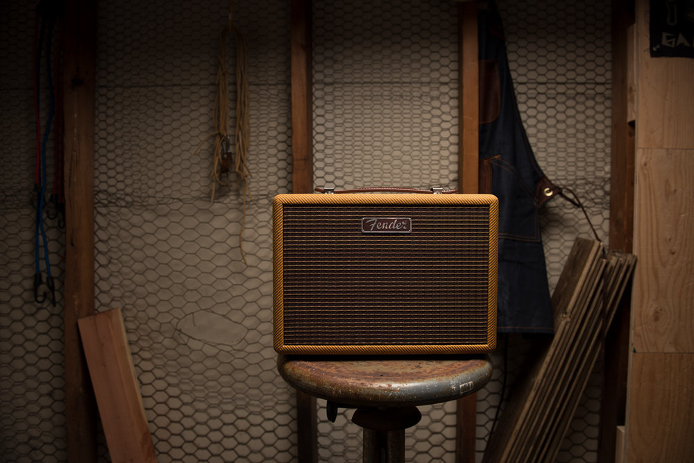Loudspeaker, Guitar amplifier, Electric guitar, fender, Fender Monterey Bluetooth Speaker, Fender Musical Instruments Corporation, , Guitar, Sound, Amplifier, fender, wood, sound, audio, loudspeaker, audio equipment, furniture, guitar amplifier, electronic instrument, flooring, musical instrument accessory