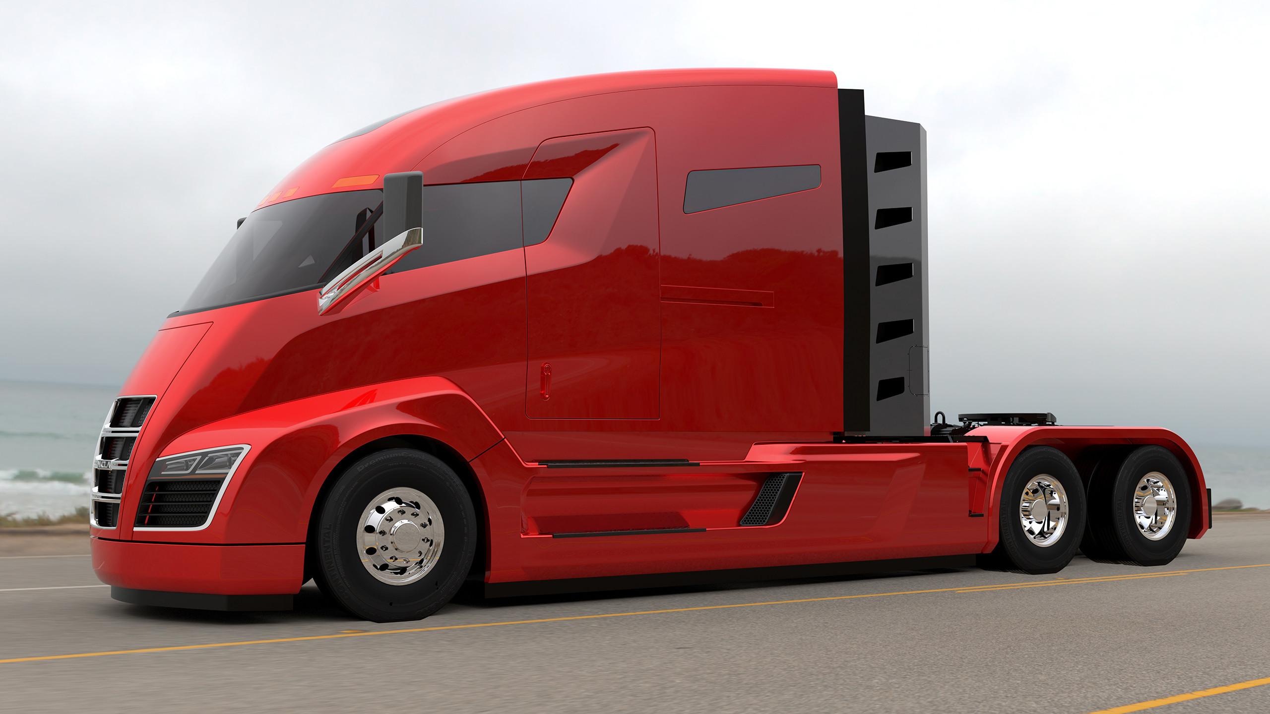 是電動超跑算甚麼, Nikola Motor Company 發表了 2,000 匹馬力的 6x6 天然氣發電電動拖車頭這篇文章的首圖