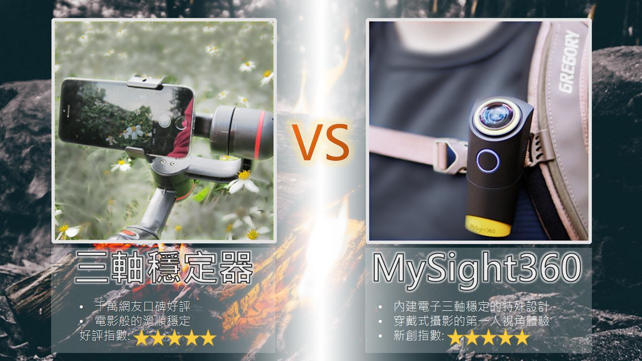 是[壞朋友動手玩] 自帶三軸穩定器效果的全景攝影機Mysight360這篇文章的首圖