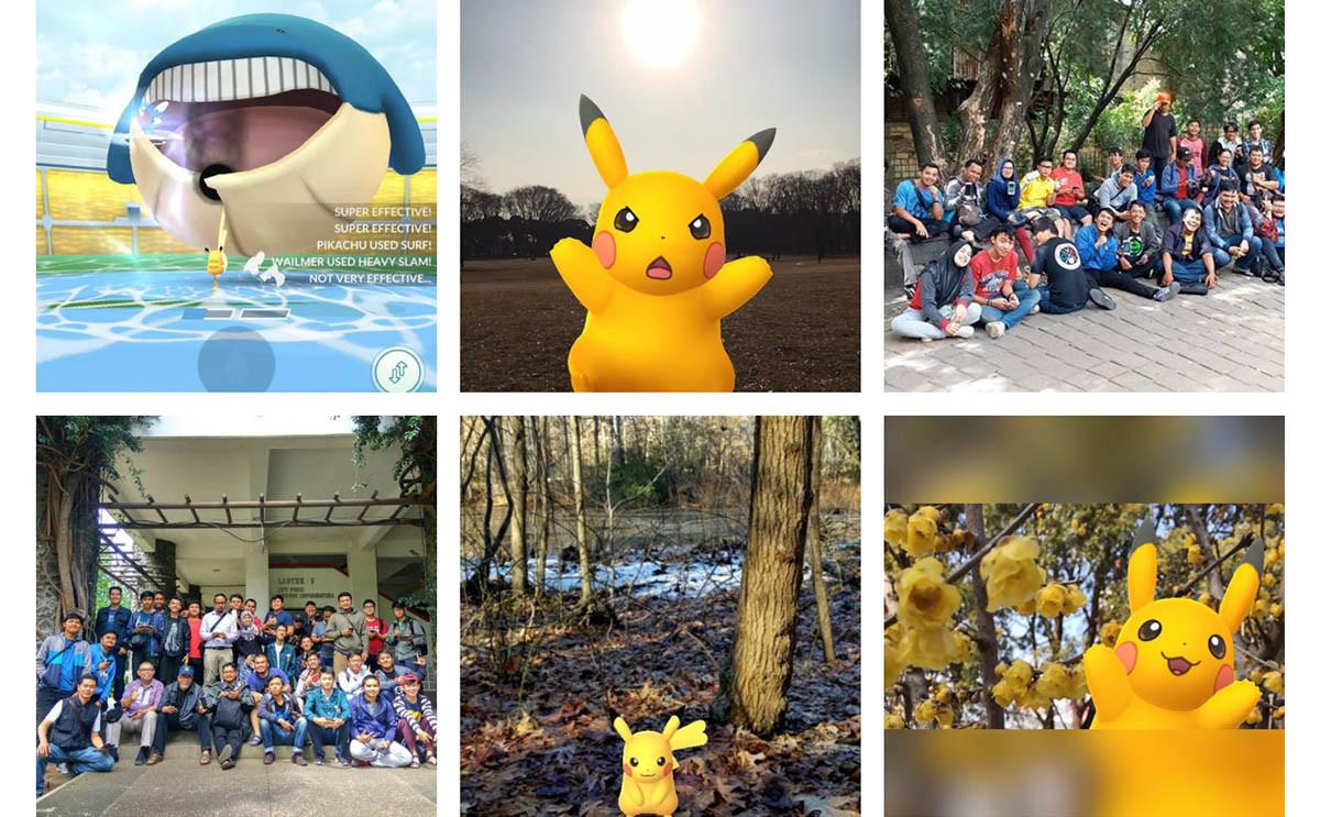 ▲在Pokémon GO社群日有張貼許多玩家1月23日的活動照,當天主推皮卡丘,吸引不少玩家共襄盛舉。