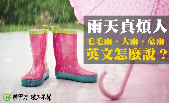 毛毛细雨、雨势用英语怎么说?