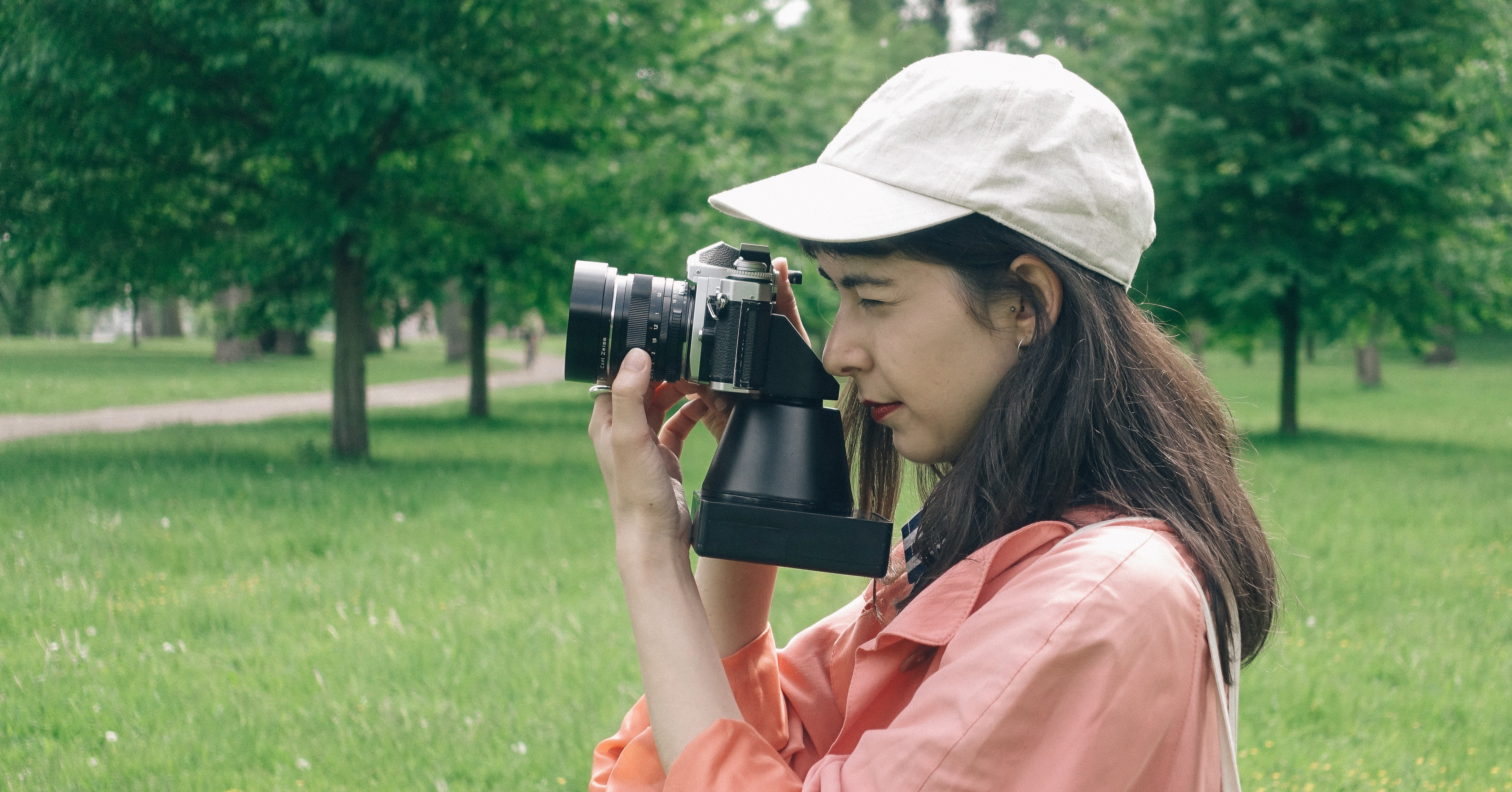 Photography, Photograph, Lawn, Girl, , Tree, Photograph, Photograph, photograph, photograph, green, grass, photography, tree, girl, photographer, plant, lawn, headgear