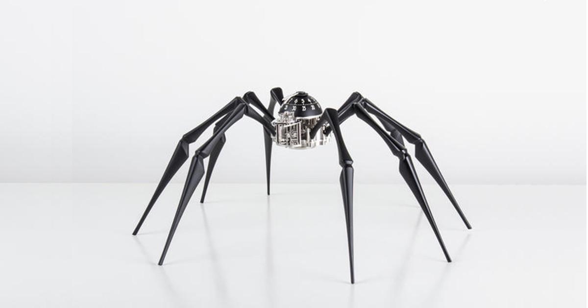 是看時間前先深呼吸!超擬真蜘蛛造型時鐘這篇文章的首圖